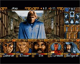 In game image of Ishar 3: The Seven Gates of Infinity on the Commodore Amiga.