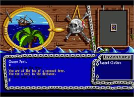 In game image of Island of Lost Hope on the Commodore Amiga.