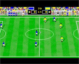 In game image of Italy '90 Soccer on the Commodore Amiga.