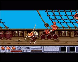 In game image of Ivanhoe on the Commodore Amiga.