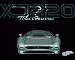 In game image of Jaguar XJ220 on the Commodore Amiga.