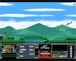 In game image of Jet Strike on the Commodore Amiga.