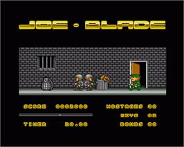 In game image of Joe Blade on the Commodore Amiga.