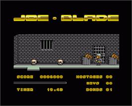In game image of Joe Blade 2 on the Commodore Amiga.