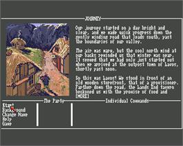 In game image of Journey: The Quest Begins on the Commodore Amiga.