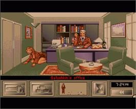 In game image of KGB on the Commodore Amiga.