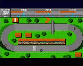 In game image of Karting Grand Prix on the Commodore Amiga.