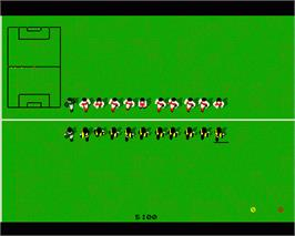 In game image of Kick Off 2 on the Commodore Amiga.