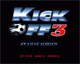 In game image of Kick Off 3 on the Commodore Amiga.