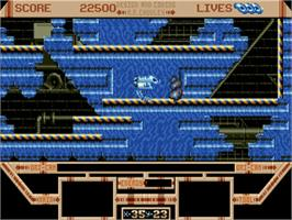 In game image of Killing Game Show on the Commodore Amiga.