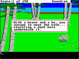 In game image of King's Quest on the Commodore Amiga.