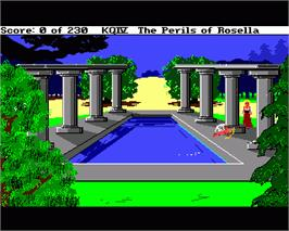 In game image of King's Quest IV: The Perils of Rosella on the Commodore Amiga.