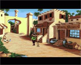 In game image of King's Quest VI: Heir Today, Gone Tomorrow on the Commodore Amiga.
