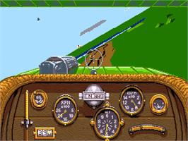 In game image of Knights of the Sky on the Commodore Amiga.