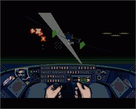 In game image of Lancaster on the Commodore Amiga.