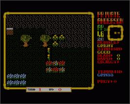 In game image of Laser Squad on the Commodore Amiga.