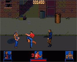 In game image of Last Action Hero on the Commodore Amiga.