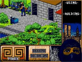 In game image of Last Ninja 2 on the Commodore Amiga.