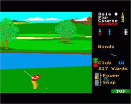 In game image of Leader Board on the Commodore Amiga.