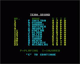 In game image of League Challenge on the Commodore Amiga.