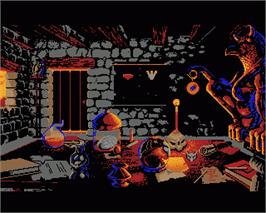 In game image of Legend of Djel on the Commodore Amiga.