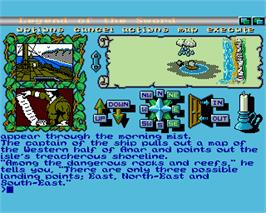 In game image of Legend of the Sword on the Commodore Amiga.