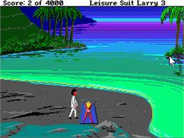 In game image of Leisure Suit Larry 3: Passionate Patti in Pursuit of the Pulsating Pectorals on the Commodore Amiga.
