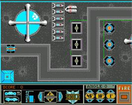 In game image of Light Force on the Commodore Amiga.