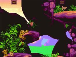 In game image of Lion King on the Commodore Amiga.
