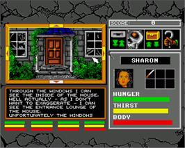 In game image of Lords of Doom on the Commodore Amiga.