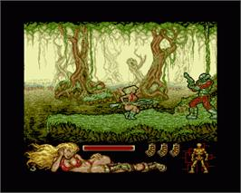 In game image of Lorna on the Commodore Amiga.