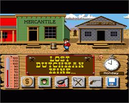 In game image of Lost Dutchman Mine on the Commodore Amiga.