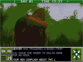 In game image of Lost Patrol on the Commodore Amiga.