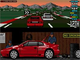 In game image of Lotus: The Ultimate Challenge on the Commodore Amiga.