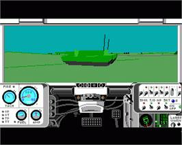 In game image of M1 Tank Platoon on the Commodore Amiga.
