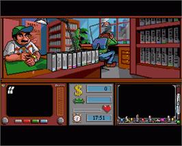 In game image of Mad TV on the Commodore Amiga.