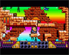 In game image of Magic Boy on the Commodore Amiga.