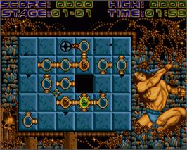 In game image of Magic Lines on the Commodore Amiga.