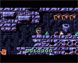 In game image of Magic Pockets on the Commodore Amiga.