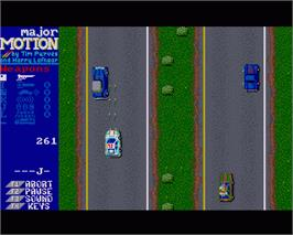 In game image of Major Motion on the Commodore Amiga.