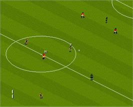 In game image of Manchester United: The Double on the Commodore Amiga.