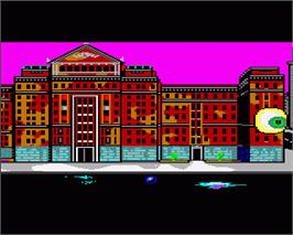 In game image of Manhunter: New York on the Commodore Amiga.