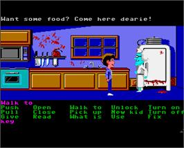 In game image of Maniac Mansion on the Commodore Amiga.