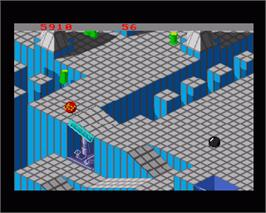 In game image of Marble Madness on the Commodore Amiga.