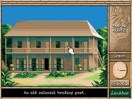 In game image of Maupiti Island on the Commodore Amiga.