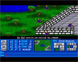 In game image of Medieval Warriors on the Commodore Amiga.