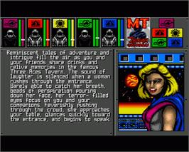 In game image of MegaTraveller 1: The Zhodani Conspiracy on the Commodore Amiga.