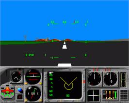 In game image of MiG-29M Super Fulcrum on the Commodore Amiga.