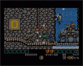 In game image of Midnight Resistance on the Commodore Amiga.