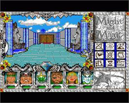 In game image of Might and Magic III: Isles of Terra on the Commodore Amiga.